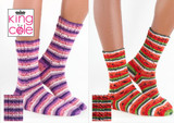 King Cole Footsie 4Ply Socks Knitting Pattern   5824
