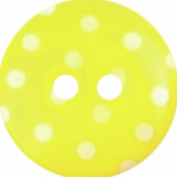 ABC Loose Buttons | Yellow with White Spots | 18mm