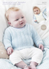 Babies / Childs Tank Top and Sweater DK Patterns |Snuggly Baby Cotton DK 4420