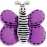 Trimits | Butterfly Button | 19mm | Purple