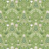 Hygge Christmas | Lewis & Irene Fabrics | C28.2 Christmas Green Tonttu