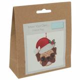 Trimits | Make Your Own Felt Decorations | Pug in Santa Hat