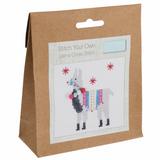 Trimits | Mini Counted Cross Stitch Kit | Fleece Navidad Llama