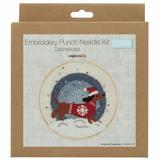 Trimits Punch Needle Kit | Festive Dachshund