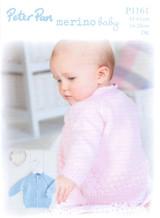 Bubble Cardigan 16-24in DK Knitting Pattern   Peter Pan Merino Baby DK 1161