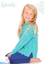 Childs Roll Neck Sweater DK Pattern | Wendy Supreme Cotton DK 5773