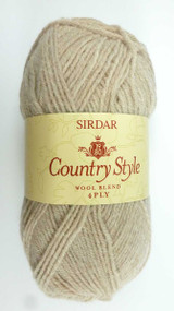 Sirdar Country Style 4 Ply Knitting Yarn, 50g Balls | Parchment 404