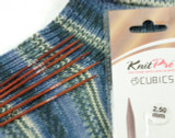 KnitPro Double Pointed Knitting Cubics Needles (Set of 5) - 2.5mm