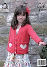 Children's jumper and cardigan DK Pattern | King Cole DK | 3409 - Image 1