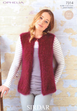 Chunky Pattern for a Ladies / Childs Gilets - Sirdar Ophelia 7314