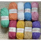 Wendy Supreme Luxury Cotton Silk DK Knitting Yarn, 100g Balls   Various Shades - Main Image