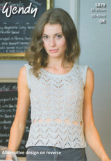 Dk Pattern for Short Sleeved and Sleeveless Tops - Wendy Supreme Cotton Dk Pattern 5879