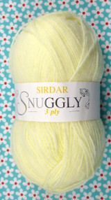 Sirdar Snuggly 3 Ply Baby Knitting Yarn, 50g Balls | Pastel Lemon 320
