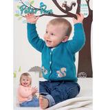 Baby & Children's Squirrel Cardigan DK Pattern | Peter Pan DK 1238 | Main Image