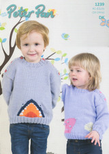 Childrens Mouse and Shark Sweater DK Pattern   Peter Pan DK 1239