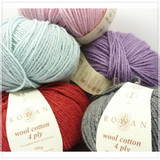 Rowan Wool Cotton 4 Ply Knitting Yarn - Main Image