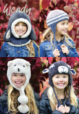 Fun Hats and Hood Chunky Pattern   Wendy Eider / Merino Chunky 5969