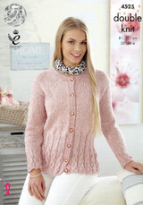 Cardigan and Sweater Pattern | 4525 | King Cole DK