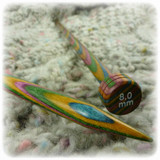 KnitPro Symfonie Wooden Straight Single Point Needles (Pair) - 8mm