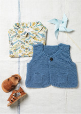 Muffin - Pattern for a Simple waistcoat for babies and little children - Erika Knight