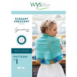 4ply pattern for Elegant Crescent Shawl | West Yorkshire Spinners - 1