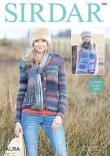Chunky Pattern for Ladies Cardigan and Waistcoat n Sirdar Aura Chunky | 7880