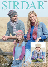 Chunky Pattern for Hats, scarves and mittens in Sirdar Aura Chunky | 7883