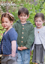 Pattern for Childrens' Aran Cardigans and Jacket in Wendy Aran with wool | 6020