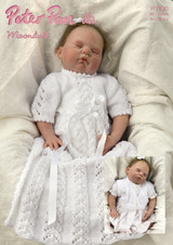 One very new baby in the Christening gown