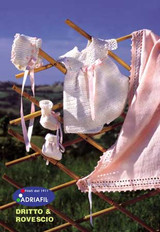 Dress, Bonnet and Booties Pattern | Adriafil Avantgarde - Free Downloadable Knitting Pattern 30 - Main image