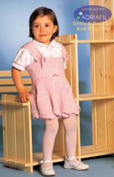 Child's Dress, Jumper and Hat Knitting Pattern | Adriafil Avantgarde - Free Downloadable Knitting Pattern 45 - Just the Dress