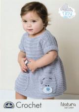 Tiny Tatty Teddy Baby & Childs Crocheted Dress Pattern | DMC Natura Just Cotton