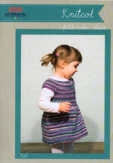 Baby & Childs Dress Knitting Pattern | Adriafil Knitcol 1548 - Main Image