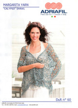 Calypso Shawl Crochet DK Knitting Pattern | Adriafil Margarita Cotton Summer Yarn - Main Image