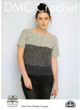 Step Hem Shades Sweater Crochet Pattern | DMC Natura Cotton Denim