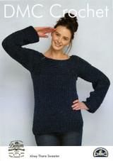 Fisherman's Friend Sweater Crochet Pattern   DMC Natura Cotton Denim