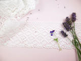 Broad White Cotton Lace Trim - 95mm Wide, Main Image