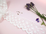 Wide Cotton Lace Trim - 70mm wide