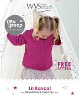Lil Rascal Girls Cable Sweater Pattern | West Yorkshire Spinners - Free Downloadable Knitting Pattern
