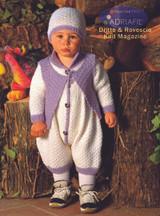 Baby Onesie, Cardigan and Hats Pattern (Leonardo Set)   Adriafil Avantgarde - Free Downloadable Knitting Pattern 46 - Main Image