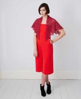 Half Hexagonal Shawl Knitting  Pattern   Debbie Bliss Fine Donegal - Main Pattern Image