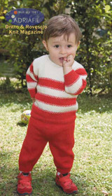 Jumper and Trousers (Tiziano) Pattern | Adriafil Avantgarde - Free Downloadable Knitting Pattern 37 - Main image