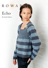 Echo Knitted Jumper Knitting Pattern   Rowan Felted Tweed DK   Free Downloadable Pattern - Main Image