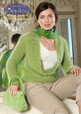 Dublino Pullover Knitting Pattern using Adriafil Carezza Angora Knitting Yarn   Free Downloadable Knitting Pattern DUB03