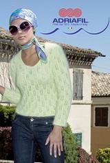 Pullover Cassiopeia Knitting Pattern using Adriafil Carezza Yarn | Free Downloadable Pattern PC10 - Main Image