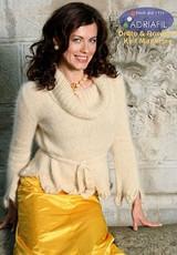 Roma Pullover Knitting Pattern using Adriafil Carezza Knitting Yarn | Free Downloadable Pattern R16 - Main image