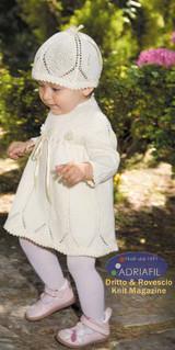 Donatell Set (Dress & Hat) Knitting Pattern using Adriafil Genziana Yarn | Free Downloadable Pattern - Main image