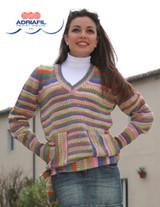 Giunone Pullover / Jumper Knitting Pattern using Adriafil Knitcol | Free Downloadable Pattern - Main image