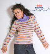 Sestriere Pullover / Jumper Knitting Pattern using Adriafil Knitcol | Free Downloadable Pattern - Main image