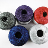 Adriafil Odeon Lame 4 Ply Knitting Yarn, 25g Balls | Various Shades  -Main